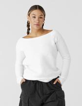 Women´s Sponge Fleece Wide Neck Sweatshirt
